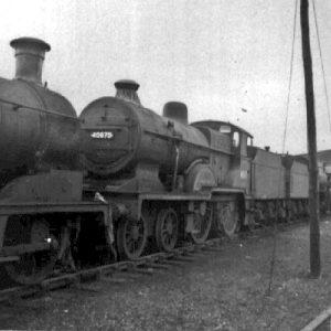 Ex LMS'P'class  locomotinBritishRailwayslivery.atKingmoore,Carliisle,Cumbria